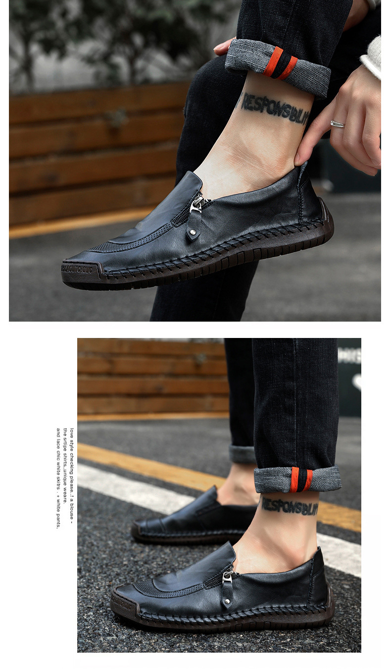 Men's formal Shoes 2019Men Genuine Leather Loafers Shoes Fashion Handmade Soft Breathable Moccasins Flats Large size 38-48 shoes