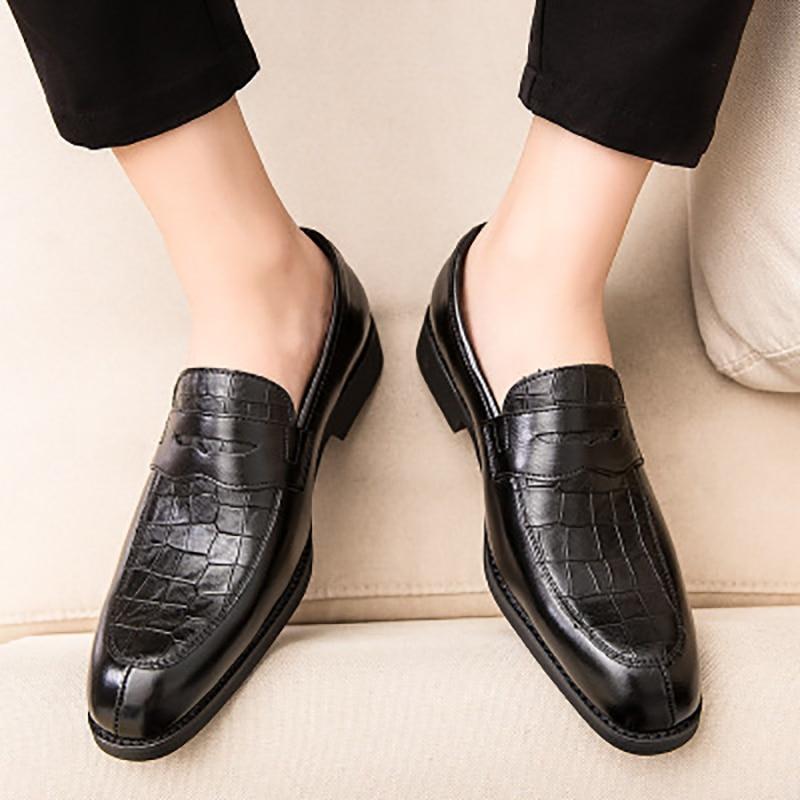 Men's Casual Shoes Fashion Elegant Office Shoes Men Banquet Wedding Luxury Men's Formal Gentleman Shoes For Men Large Size 38-48