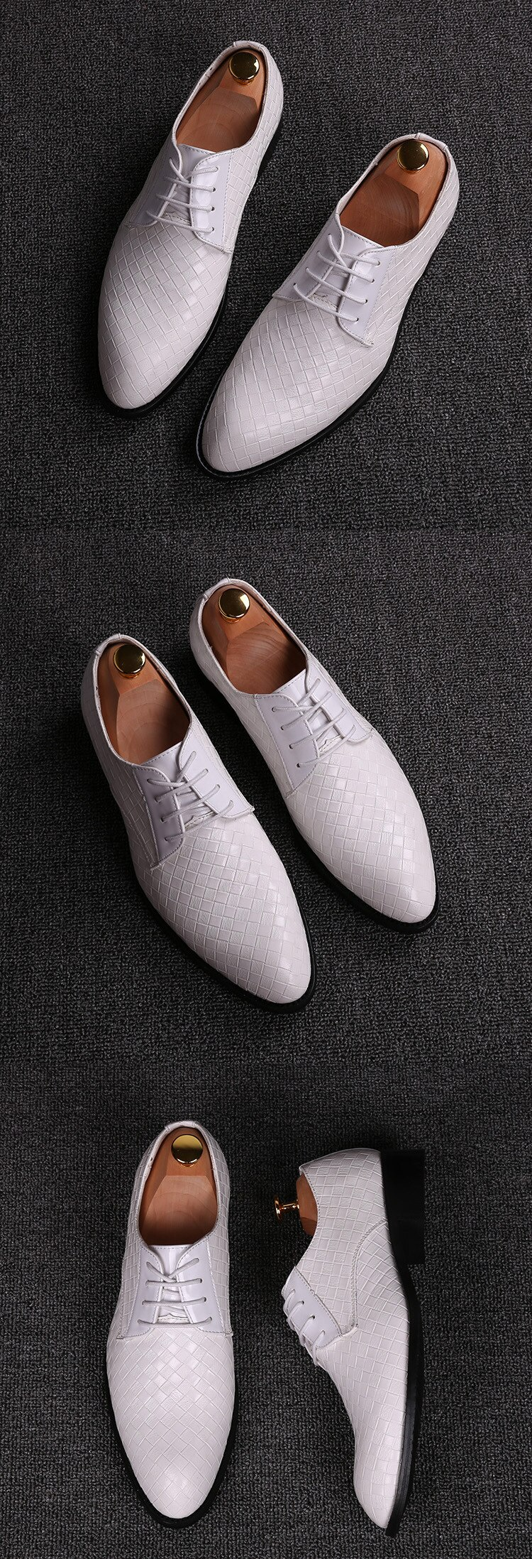 Alexbu Dress Men's Shoes Man Spring Fashion Pointed Toe Wedding Shoe Lace Up High Quality Formal Casual Shoes Trend Comfortable