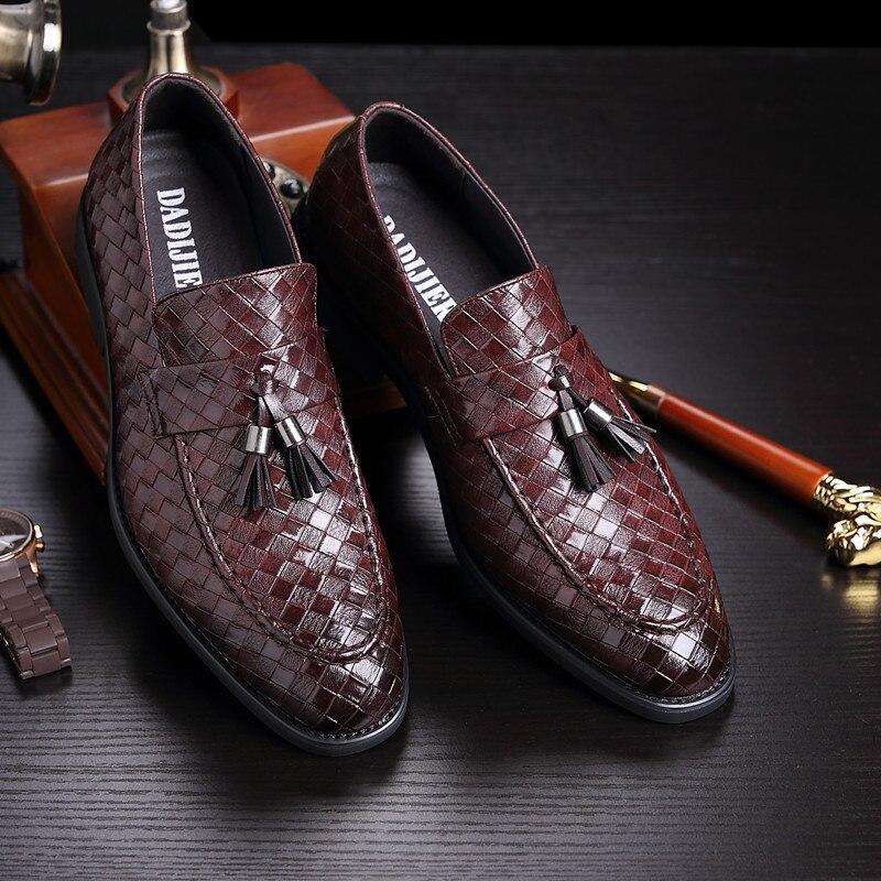 Men Dress Shoes Formal Wedding Leather Shoes Business Casual Office Men's Flats Oxfords Zapatos De Hombre Unique Shoes