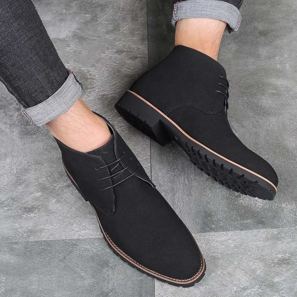 2020 Luxury Plus Size Flat Casual Shoes Male Designer Formal Leather Shoes Men's High Help Loafers Christmas Party Shoes