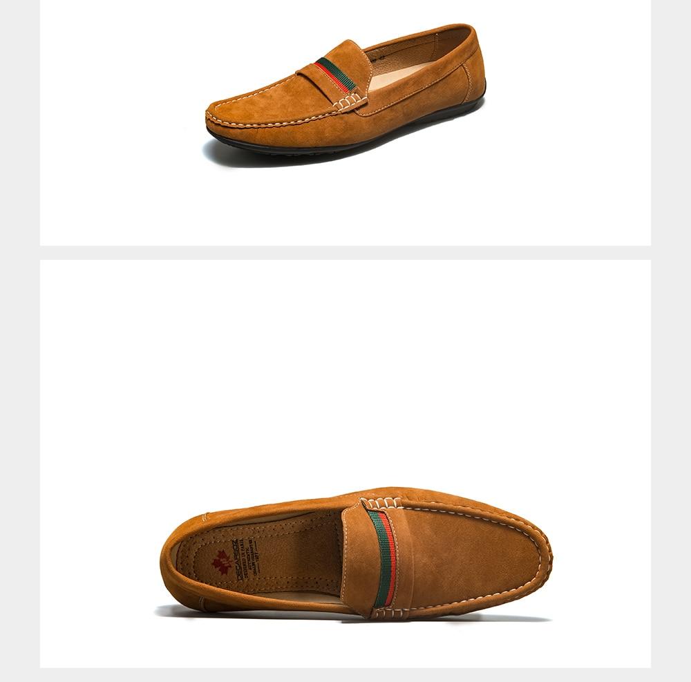 Men Loafers Shoes 2021 Autumn Fashion Men's Flats Brand Moccasins Male Footwear Comfy Slip-ON Suede Men Shoes Men Casual Shoes