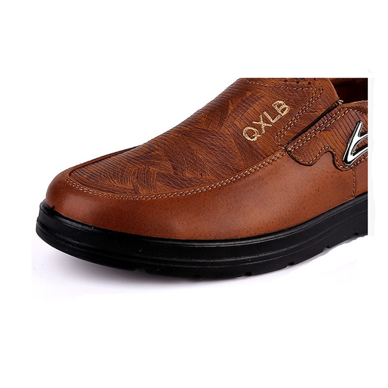 Big Size 38-48 Spring Autumn Comfortable Men's Flat Casual Shoes Black Brown Outdoor Sneakers Loafers High Quality Moccasins