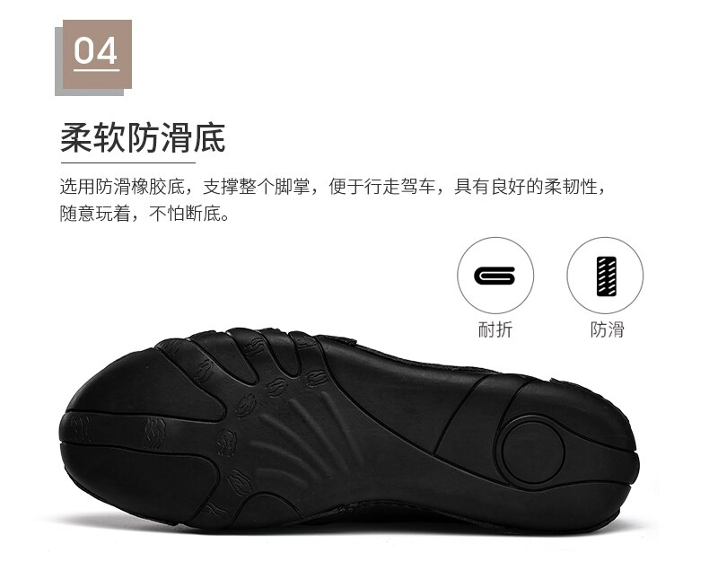 WEH Genuine Leather Men Sneakers Qulaity Casual shoes Slip-on Softy Luxury brand shoes for Men Loafers Moccasins Driving Shoes