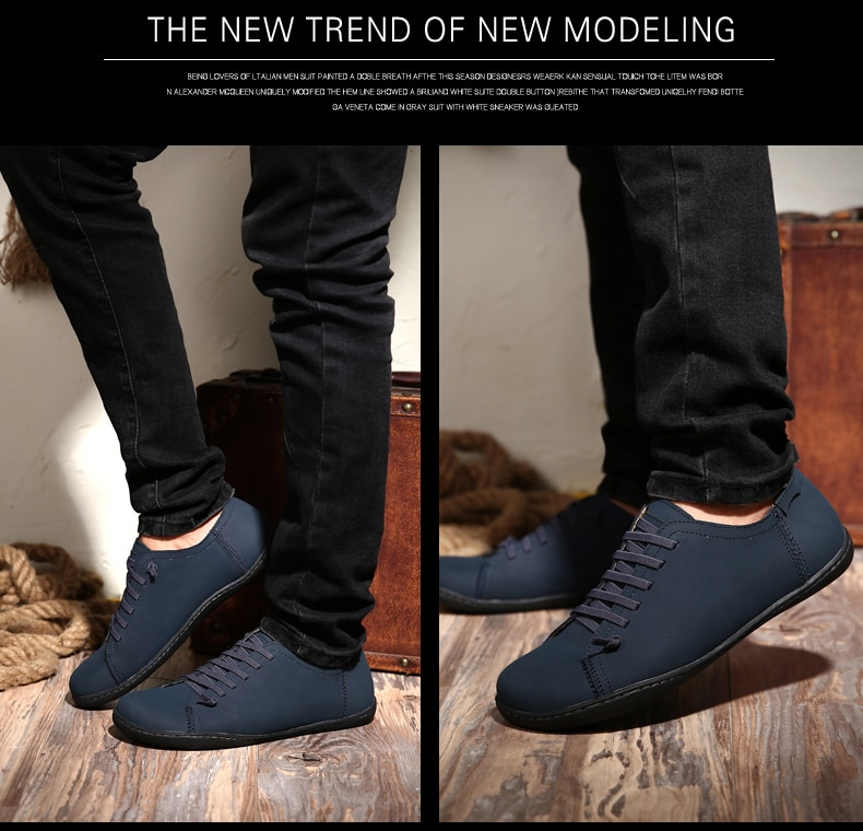 Men's Casual Loafers Cow Split Leather New Driviers Espadrilles Vintage Brown Slip On Designer Men Masculino Flats Shoes Casual
