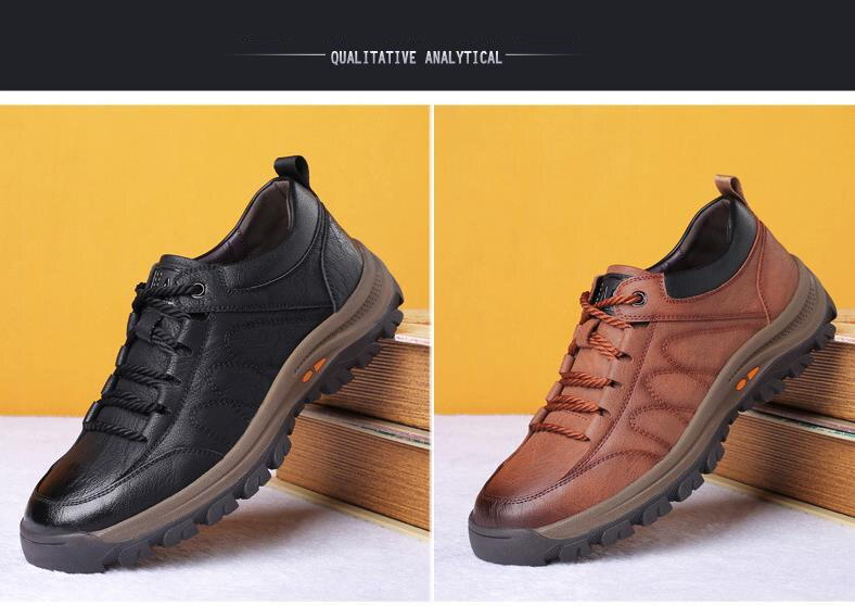 ZYYZYM Brand New Men Casual Shoes Spring Autumn Split Leather Thick Wear-resistant Shoes British Style Men's Shoes Outdoors
