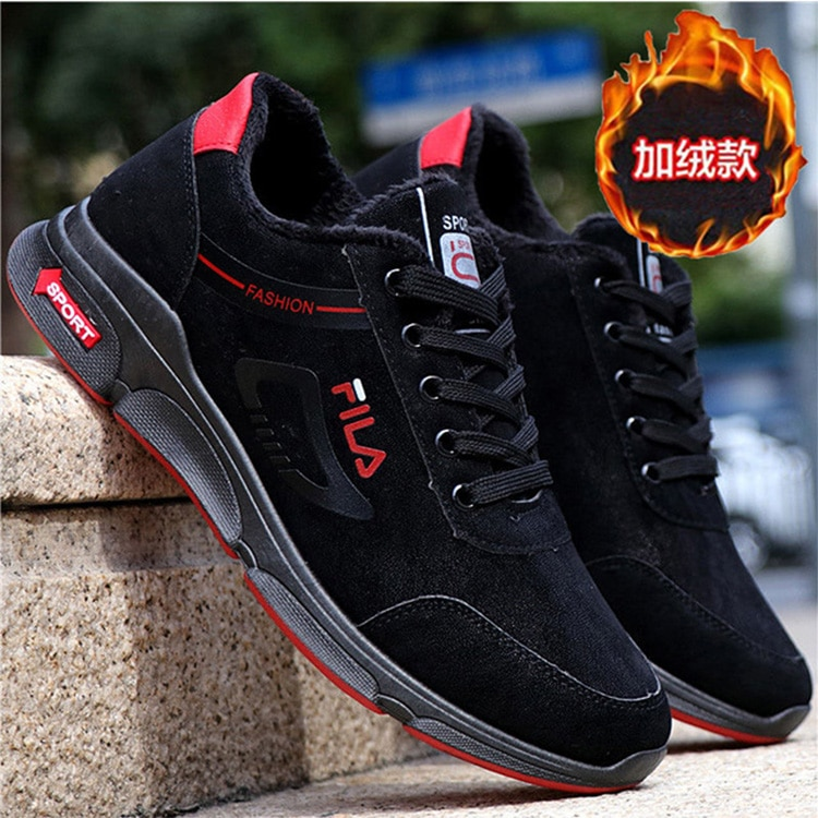 New Men Shoes High Quality Winter PU Warm Ankle Snow Boots Men Winter Rubber casual Sneakers Couple Winter Shoes Plus size 39-44
