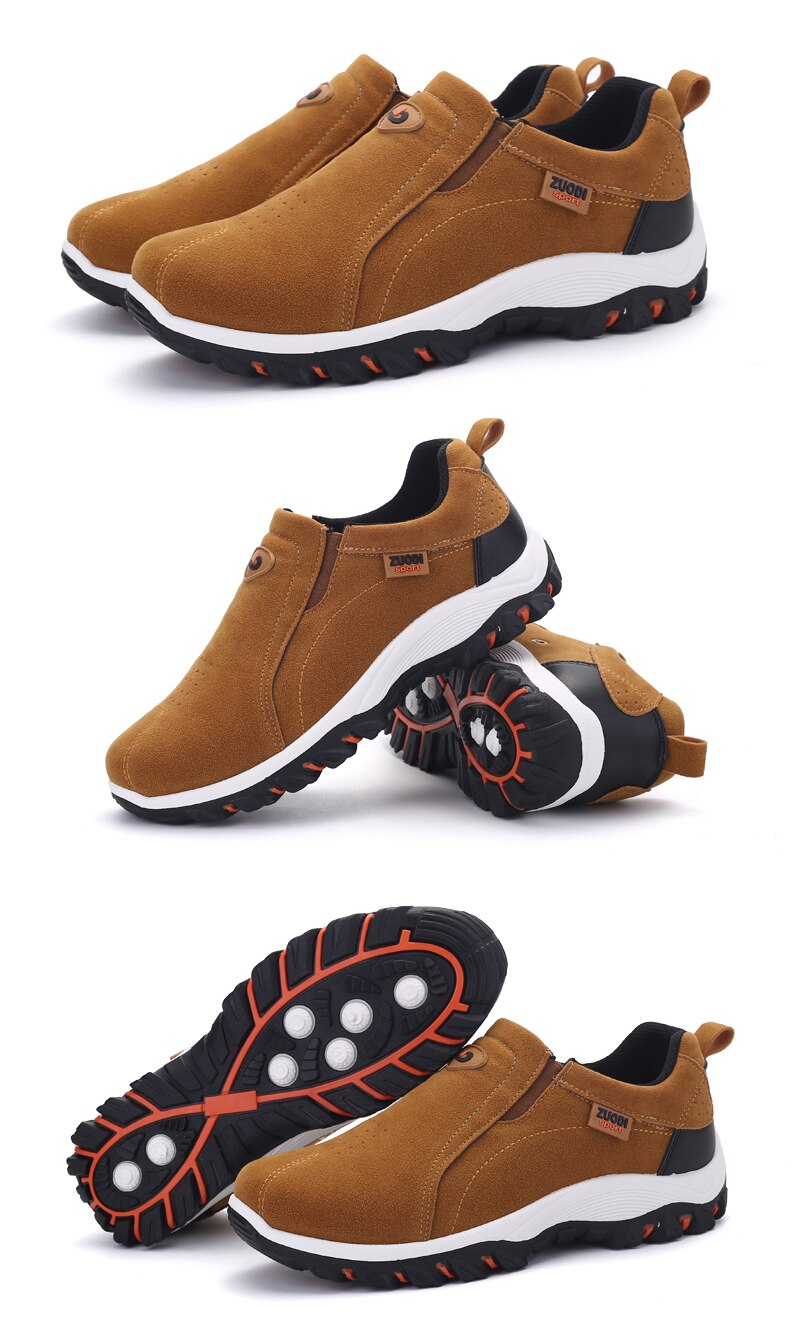 Men Casual Shoes Breathable Outdoor Sneakers Lightweight Walking Shoes Autumn Spring Men Loafers Slip On Dad Shoes Size 39-48