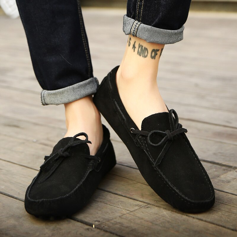 Fashion Men Shoes Genuine Leather Casual Summer Shoes Classic Mens Loafers Elegantes Slip On Men's Flats Plus Male Driving Shoes