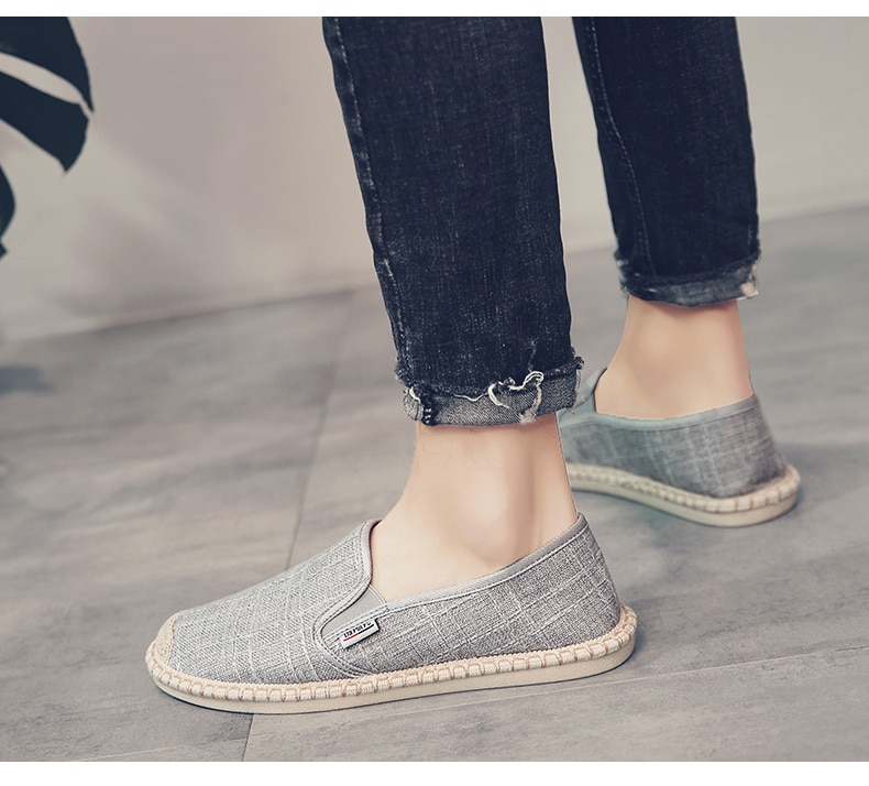 PUPUDA Men Loafers Soft High Quality Spring Canvas Fisherman Shoes Sneakers Men Espadrilles Trend Flats Driving Shoes Men Summer