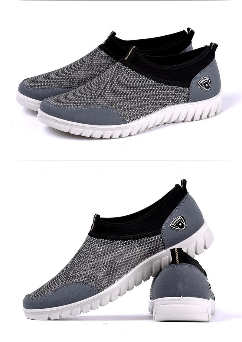 Men'S Casual Shoes Sneakers Summer Mesh Breathable Comfortable Loafers  Walking Big Size 38-48 Zapatillas De Deporte