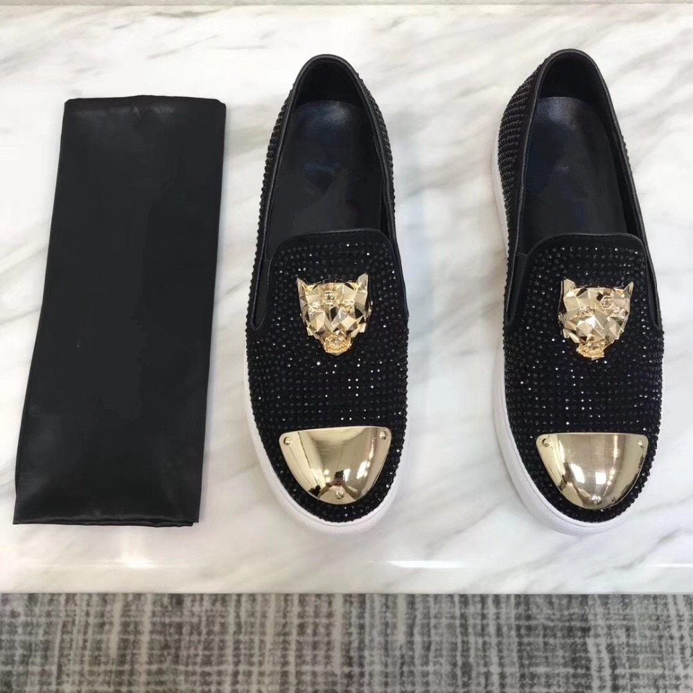 2021 New Big Size shoes men Slip on Men's Loafers Luxury Casual Fashion Trend Brand Men's Shoes Wedding Shoes