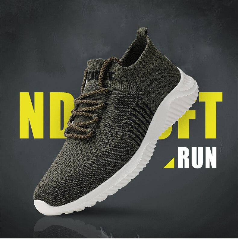 BIMUDUIYU Outdoor Men's Casual Shoes Super Light Fashion Sock Sneakers Breathable Men Mesh Shoes Non-slip Comfortable Walking