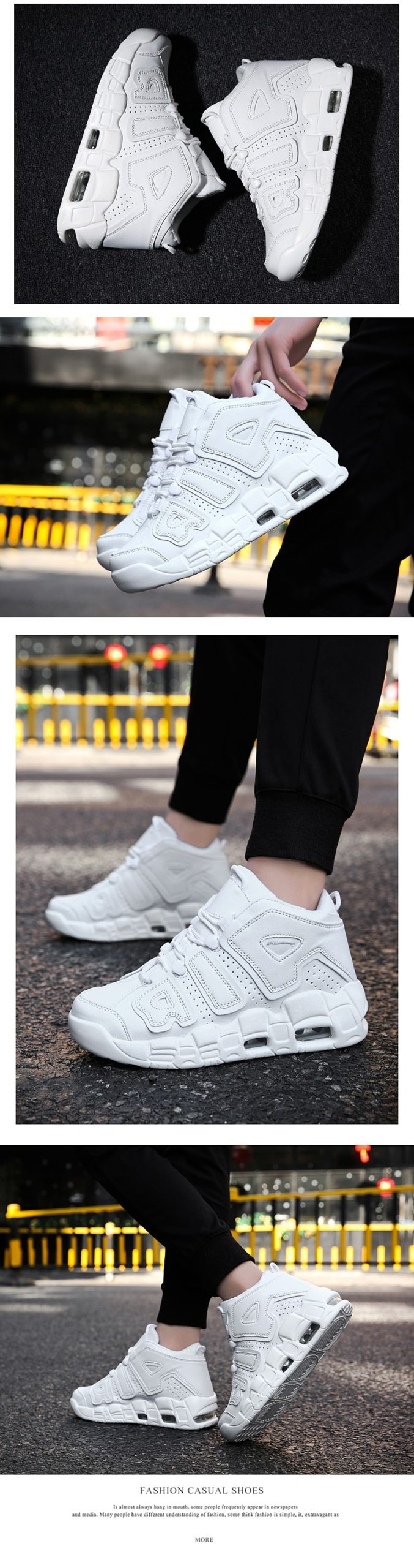 Autumn And Winter High Top Men Sneakers Outdoor Breathable Running Shoes Damping Air Cushion Men's Sport Basketball Shoes 37-45