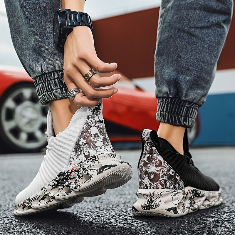 Fashion 2020 Men Casual Platform Shoes Trend Chunky Sneakers Black White Shoes For Mens Trainers Tenis Masculino Baskets Homme