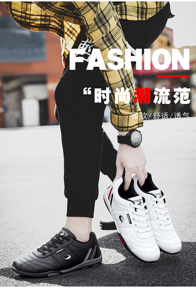 Men's Sport Running Shoes Lightweight Leather Walking Sneakers for Men Athletics Training Shoes Tennis Jogging Shoes Gym Fitness
