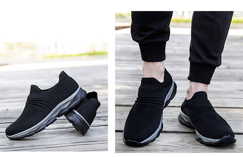 Professional Elder Healthy Shoes Walking Anti-skid Men's Loafers Stability Soft Sock Outdoor Flat Shoes Solid Sneakers for Men