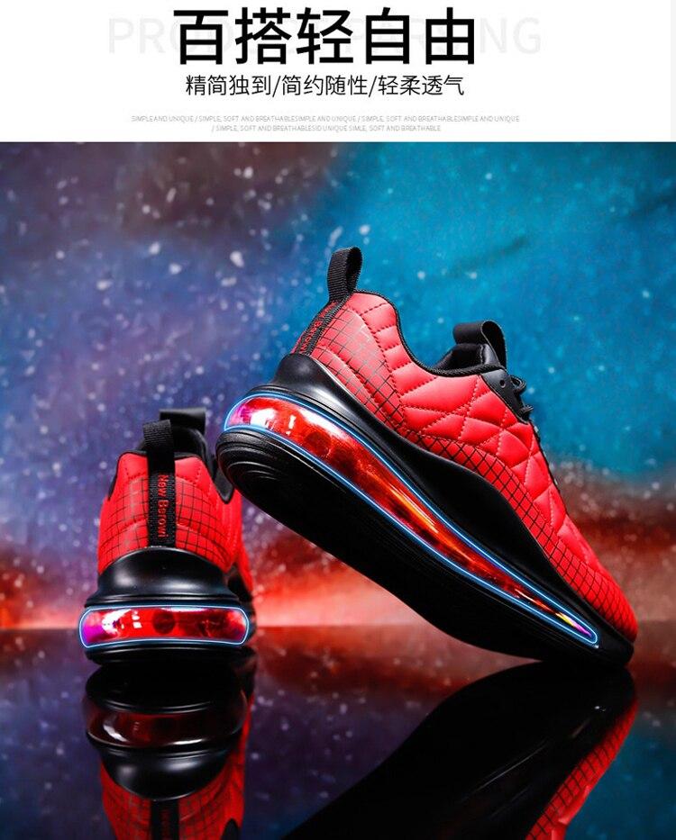 Spring 2021 Running Shoes Men White Red Sport Shoes For Mens Air Cushion Walking Jogging Sneakers Man Brand Training Shoe Men