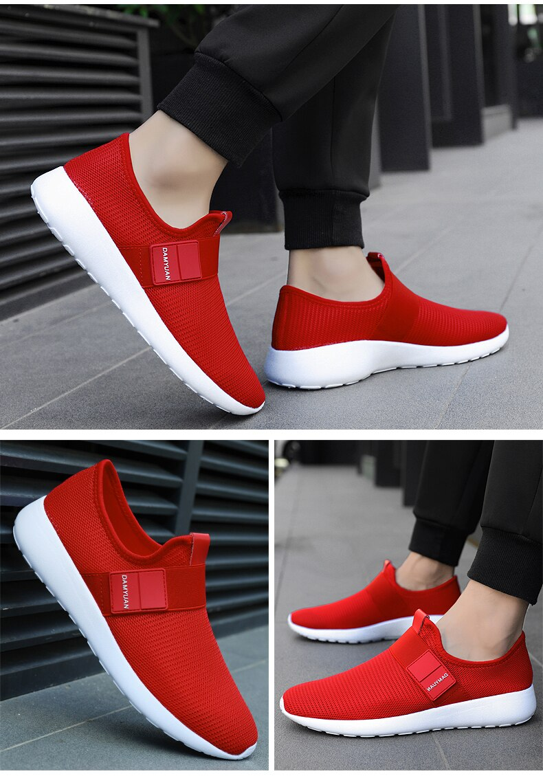 2020 Man Sneakers Outdoor flat Walking Shoes Mesh Breathable Sport Running Shoes Fashion Soft Men's Casual Shoes Plus Size 47