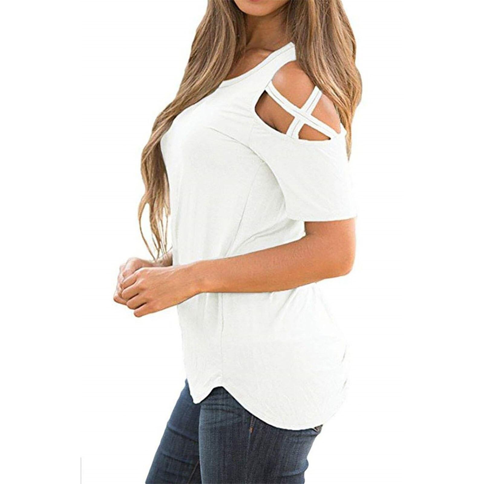 Women's short-sleeved summer women's fashion leopard print lace-up strapless T-shirt loose plus size top футболка женский 40*
