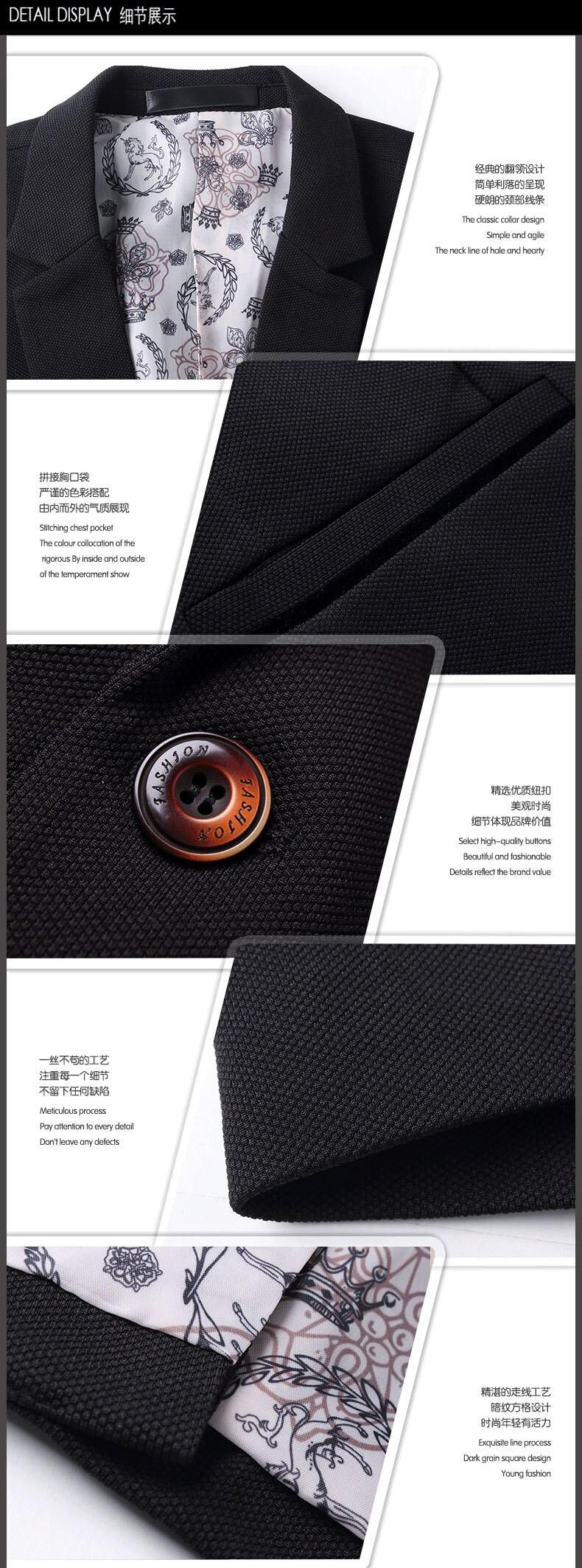 Men's Fashion Brand Blazers Spring Autumn British's Style Business Casual Suit Jacket Plus Size M-5XL Blazer terno Dropshipping