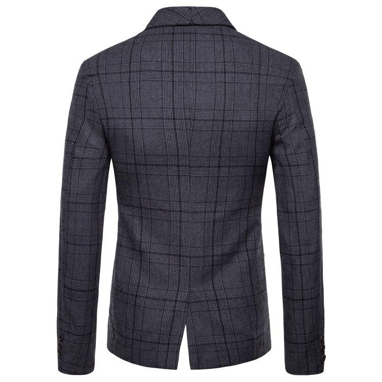Mens Suits Blazer Jacket Men's New Arrival Spring Autumn 2020 Plaid Double-breasted Suit Mens Suits Jacket