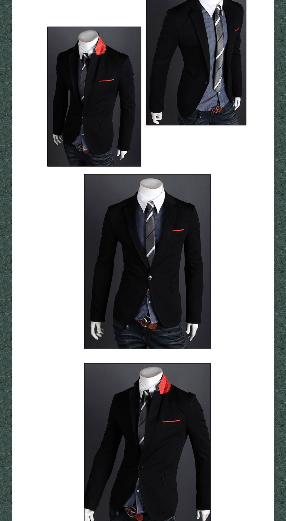 New 2020  Autumn winter men's suit Collar Unique Spell British Casual Single Breasted Slim Fit blaser masculino brand-clothing