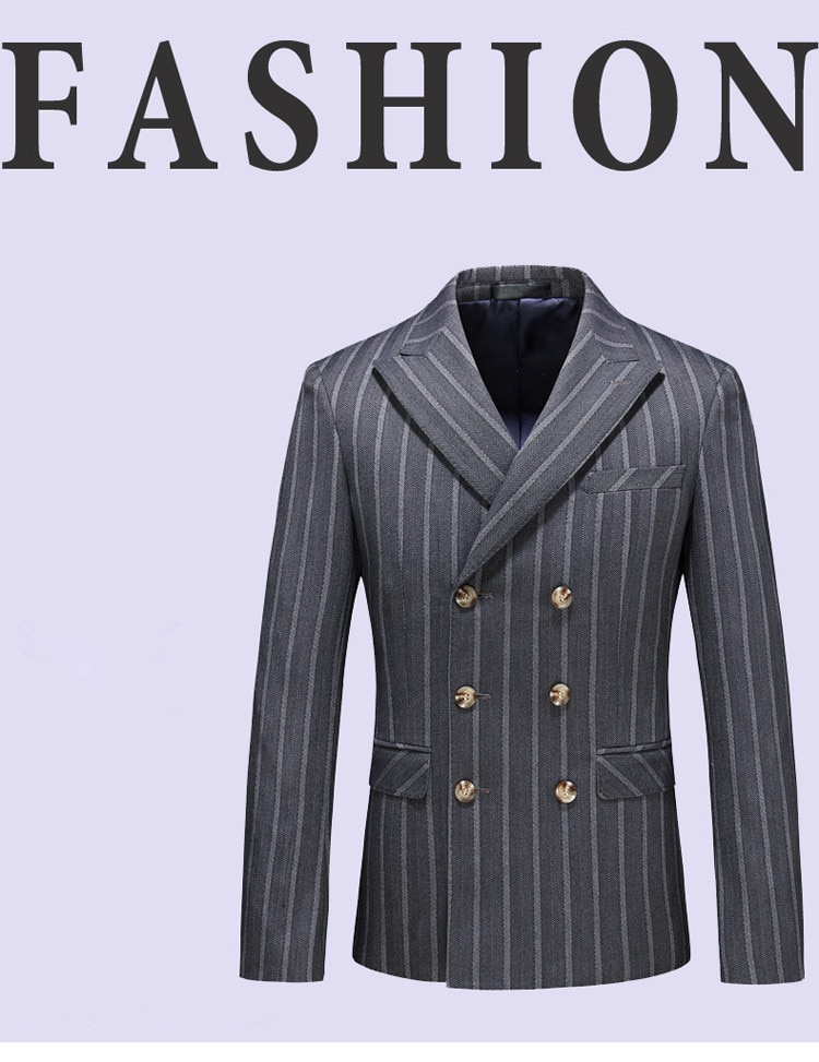 2020 new arrival autumn high quality casual blazer men,men's suits jackets ,casual stripe blazers men plus-size S-4XL,5XL
