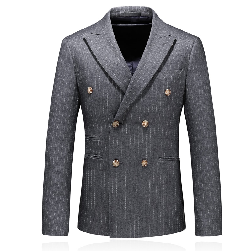 2020 new arrival high quality casual Double-breasted blazer men,men's suits jackets ,casual stripe blazers men plus-size S-5XL