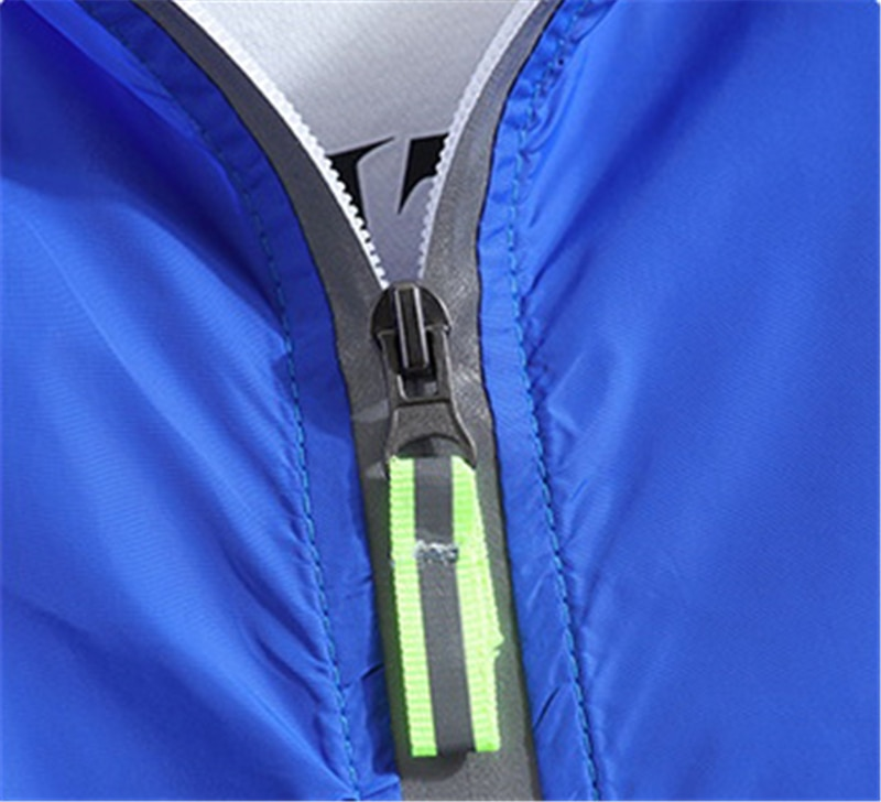 JDDTON Men's Sun-Protective Jacket Fluorescence Windbreaker Casual Loose Luminous Coat Hip Hop Male Bomber Jacket Big Size JE491