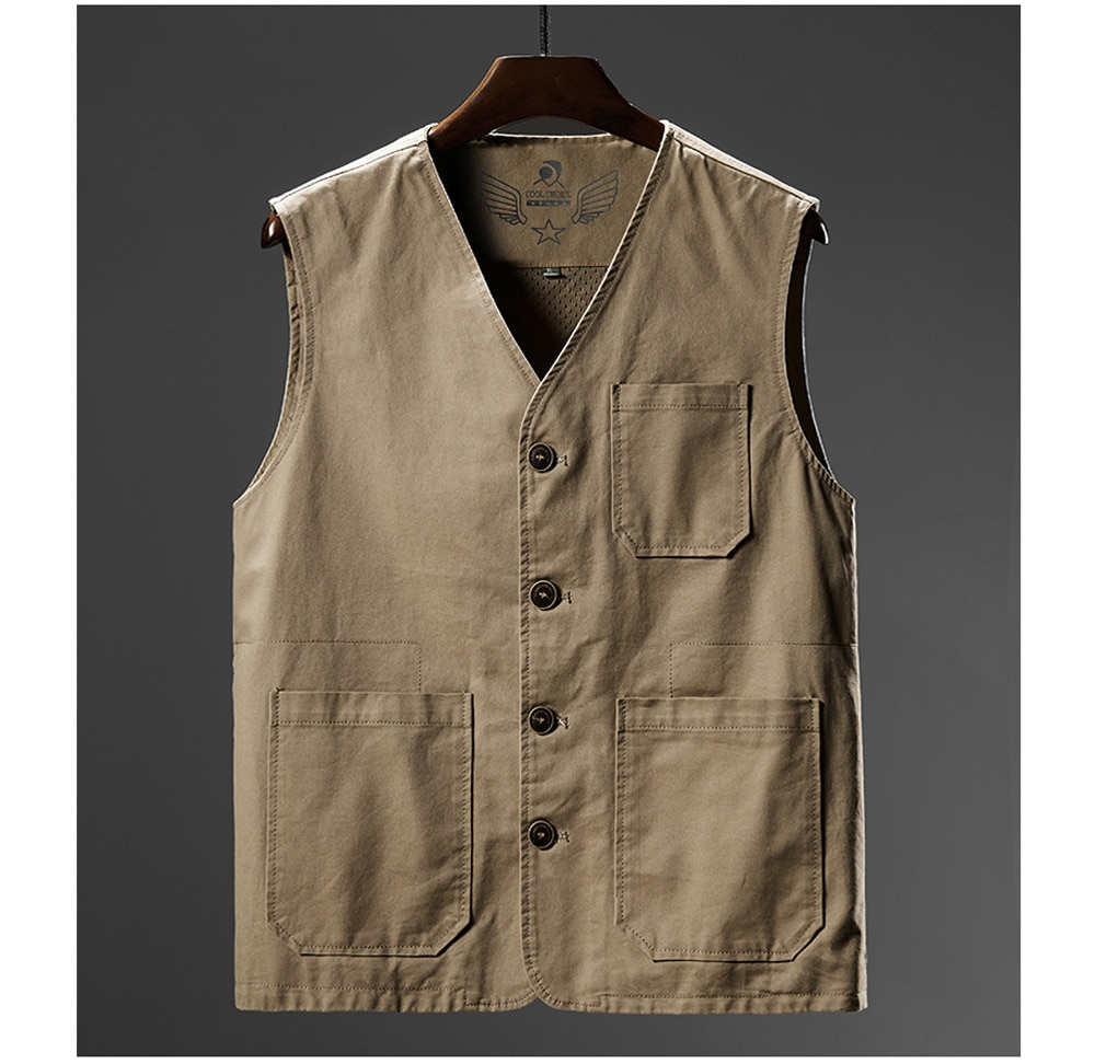 DIMUSI Summer Men's Vests Casual Man Cotton Breathable Mesh Vest Sleeveless Jackets Man Outwdoor Fishing Waistcoats Clothing 8XL