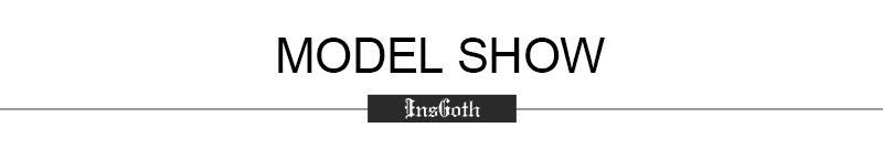 InsGoth Black Loose Long T-shirts Women Gothic Streetwear Punk Dragon Print Short Sleeve Female T-shirts Tee