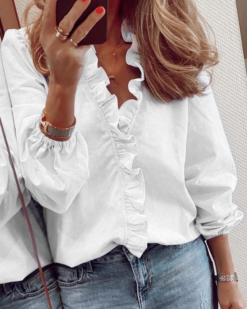Plus Size 5XL Blouse Shirt Women New Elegant Streetwear Womens Tops and Blouses Ladies Top Tee White Shirts Long / Short Sleeve