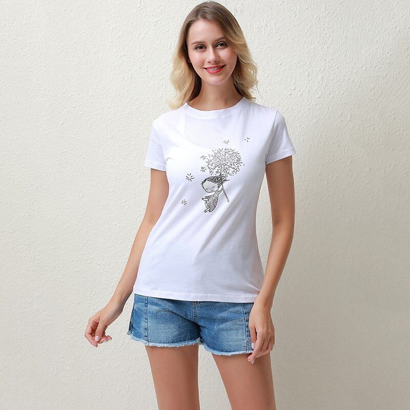 High Quality Women's T-shirts Summer Loose Large Size Comfortable Tops Fashion Cartoon Characters Printed Women's T-shirts