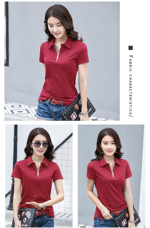 MiiKLN Polo Shirt Women 90% Cotton Stripped 17 Colors Short Sleeves Shirts For Women M to 4XL Golf Shirt Woman Big Size