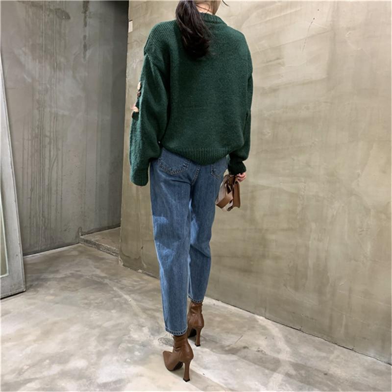 BGTEEVER Women Harem Jeans Pants Fashion High Waist Loose White Denim Jeans Female Buttons Trousers Spring 2020 Streetwear