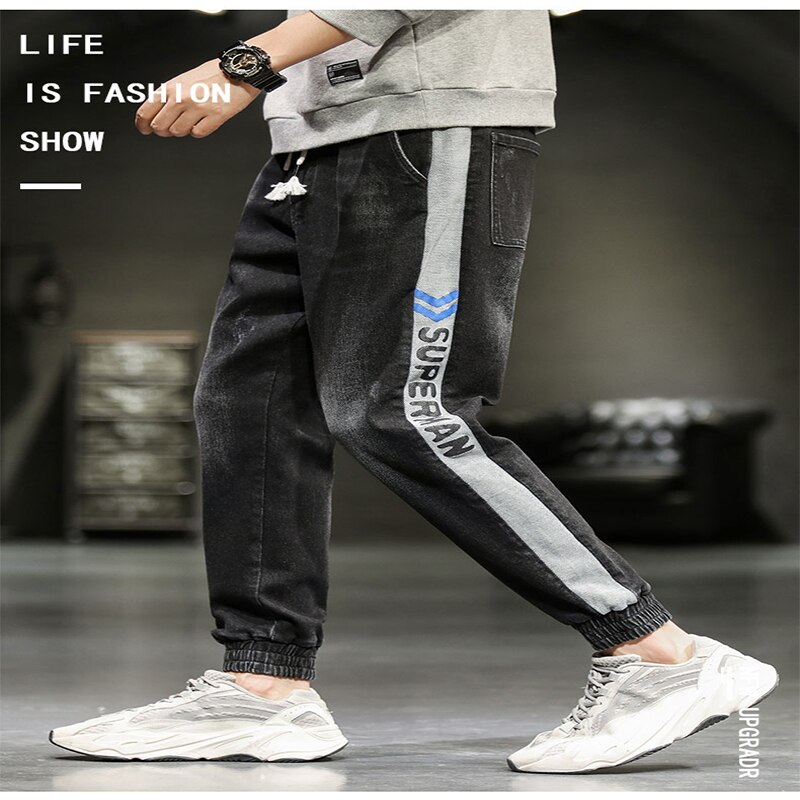 Trendy Men's Trousers Original Nine-Point Pants Loose Baggy Trousers Elasticated Trousers Casual Pants Slim Pants Jeans