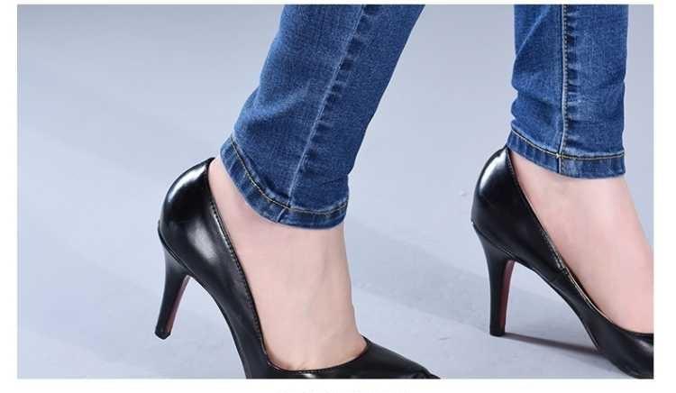 New Fashion Skinny Denim Pencil Jeans Woman Elastic High Waist Trousers Black Blue Stretch Plus Size Washed Jeans Female