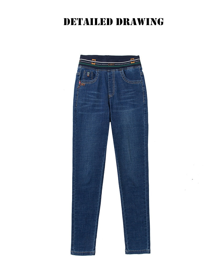 NEW Velvet warm Jeans for Women With High Waist Tight Blue Jeans Winter Pencil Trousers Woman Skinny Jeans Stretching