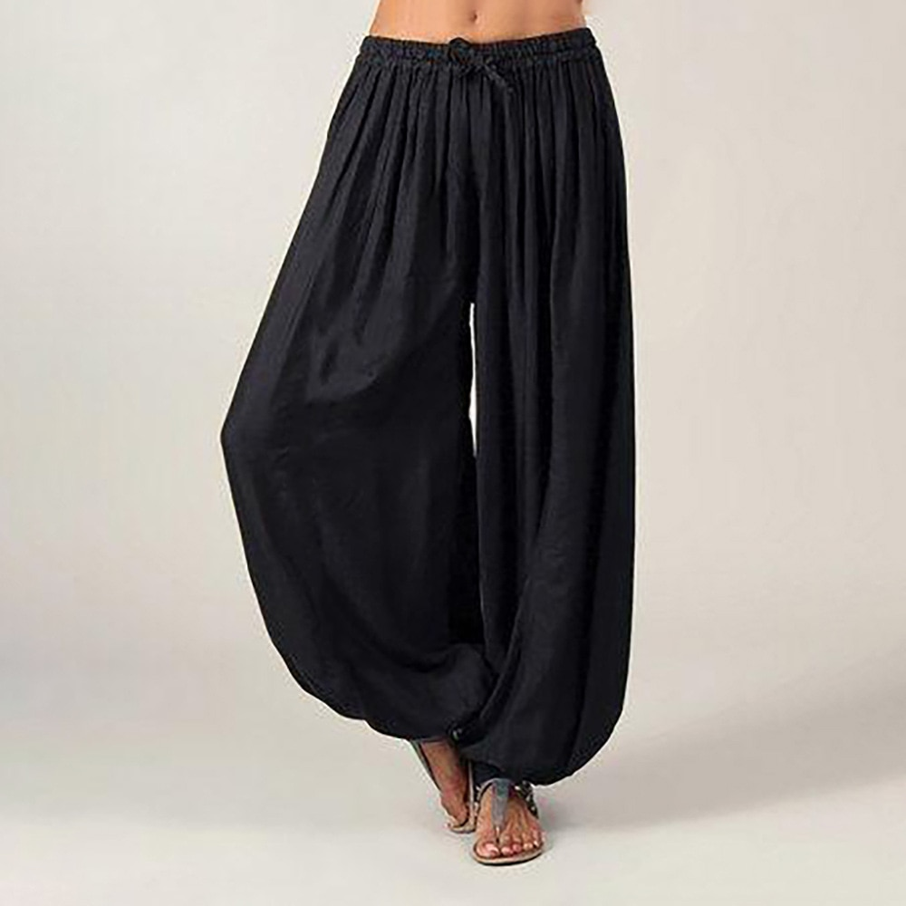 Hot Casual Women Harem Pants Sports Baggy Hippie Workout Loose Trousers Sweatpants Solid Sports Loose Trousers Dance S -3XL Soft
