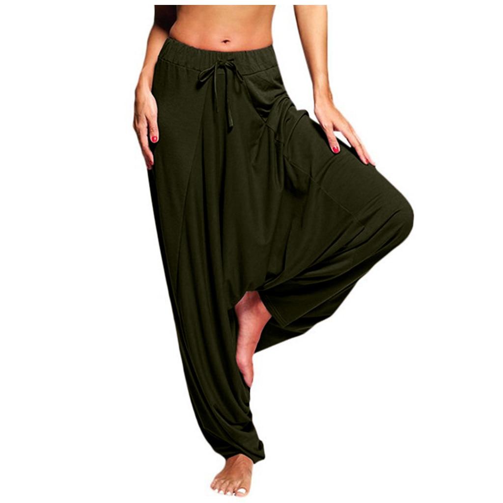 Casual Women's Harem Pants Drop Crotch Baggy Wide Leg Thai Hippy Boho Loose Aladdin Women Trousers mujer pantalones