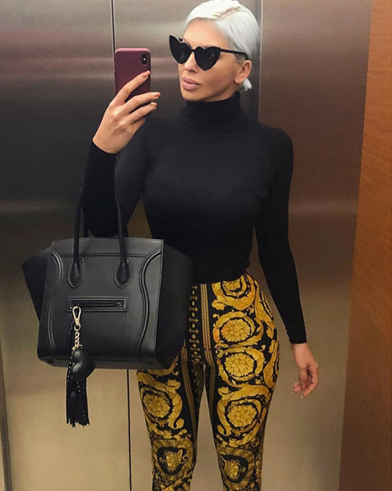 Sexy Womens Printed Casual High Waist Soft Pants Ladies Active Skinny Leggings Casual Slim Fit Trouser