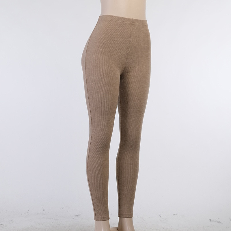 Celandine Khaiki High Waist Pencil Pants Women Y2K Fashion Casual Sports Trousers Ladies Ruched Leggings Spring Summer 2021