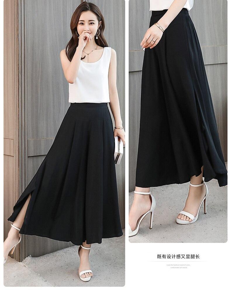 2021 Summer Plus Size Wide Leg Pants Women High Quality Loose Summer Bohemian Beach Pants Calf-Length High Waist Women Pants