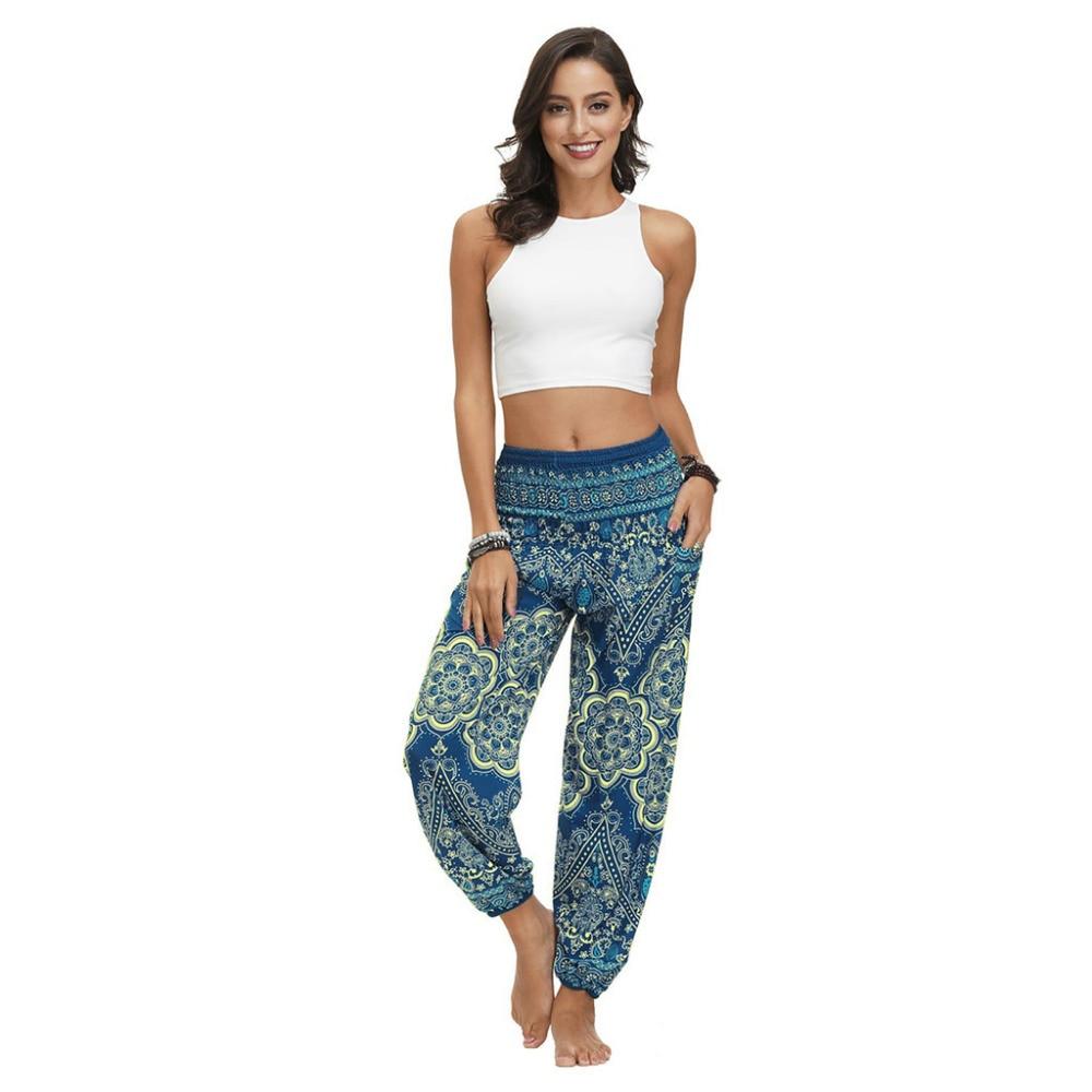 Fashion Bohemian Loose Pant Men Women Casual Hippy Trousers Baggy Aladdin Harem Pant Droppship 20 Colors Штаны для йоги Freeship