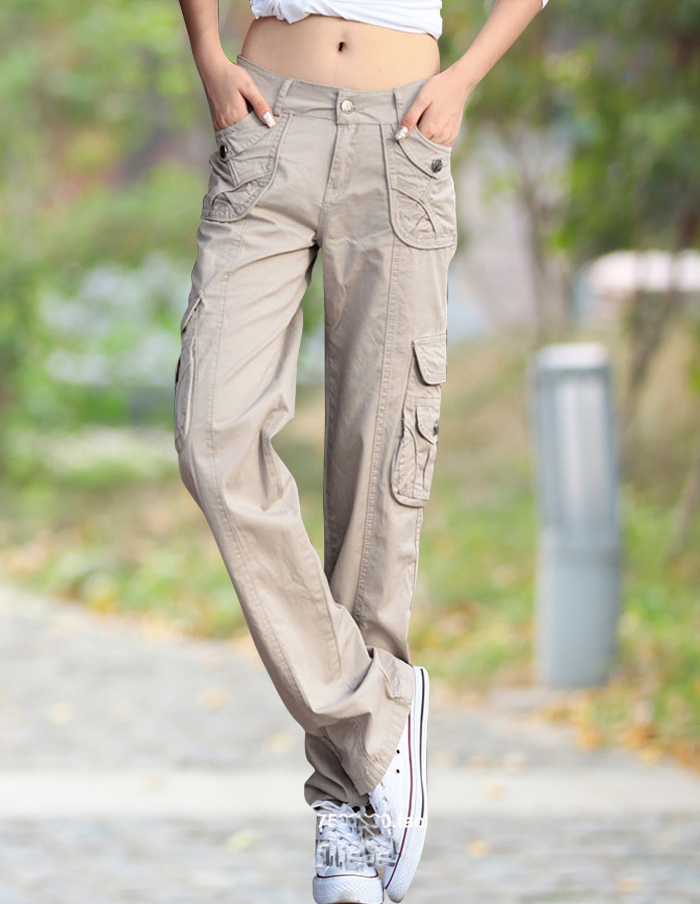 Fashion Style Full Pants Casual Jogger Cargo Pants Woman Trousers Free Shipping
