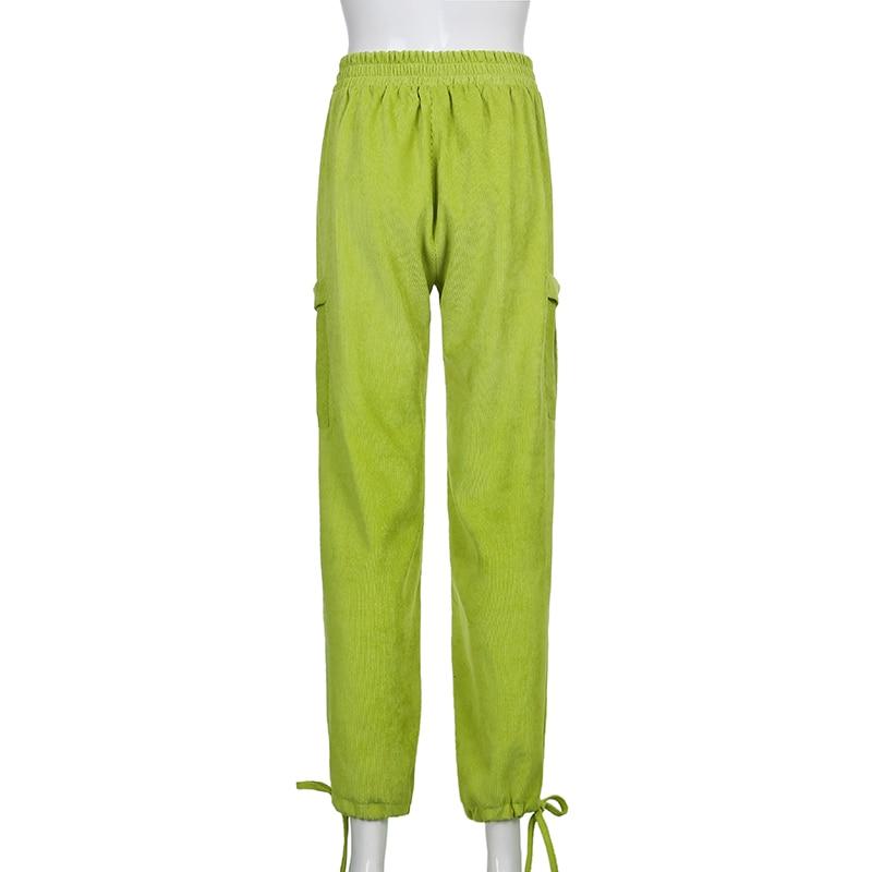 Streetwear Joggers Women Brown Corduroy Pants Oversized Big Pocket High Waist Sweatpants Harajuku y2k Cargo Pants Cuteandpsycho