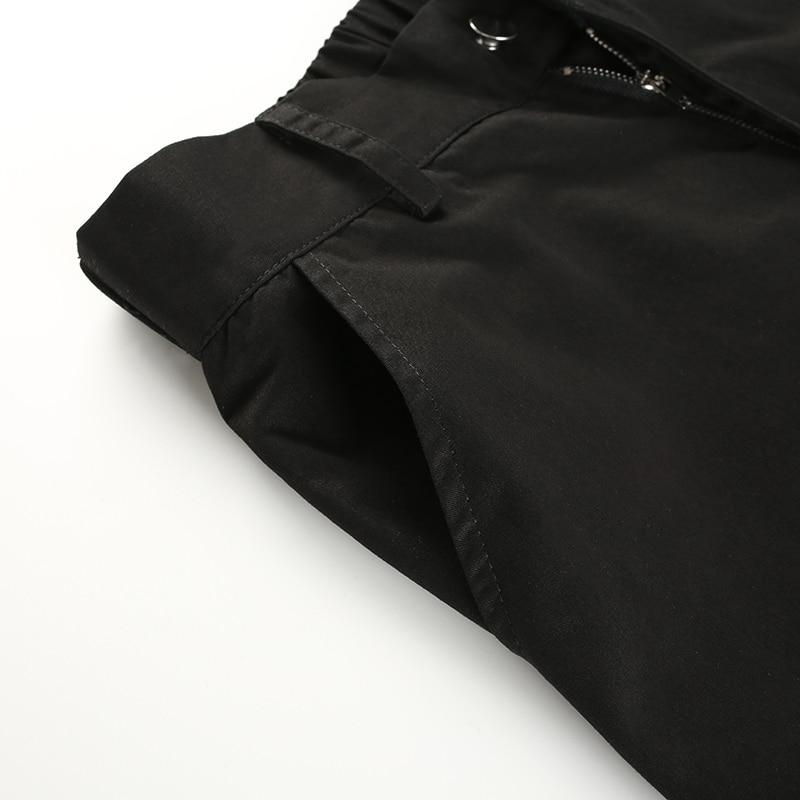 HEYounGIRL Streetwear Cargo Pants Women Casual Joggers Black High Waist Loose Female Trousers Korean Style Ladies Pants Capri