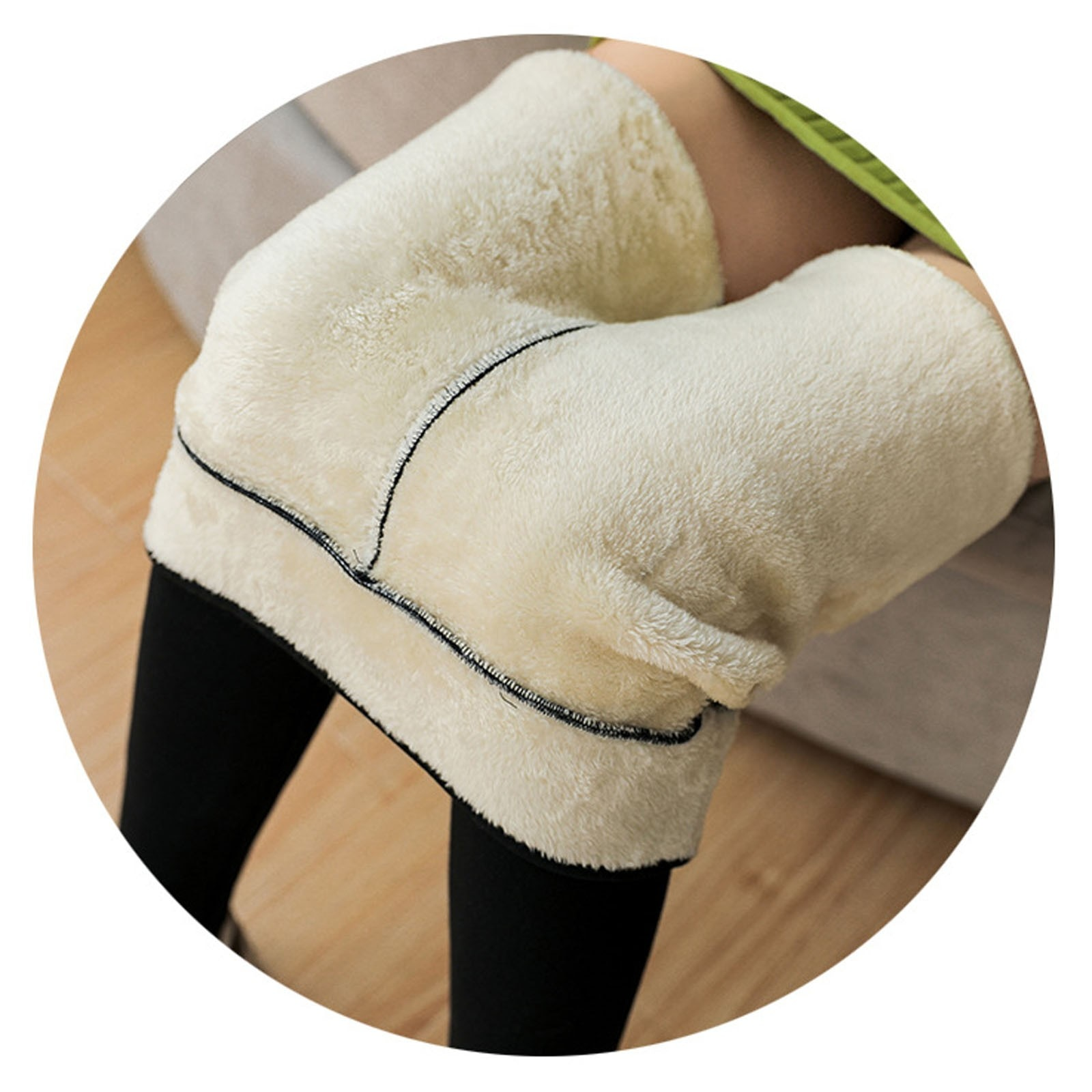 Women's Plush Thick Leggings Leggings Fashion Casual Women Printed Span Ladies High Waist Keep Warm Long Pants
