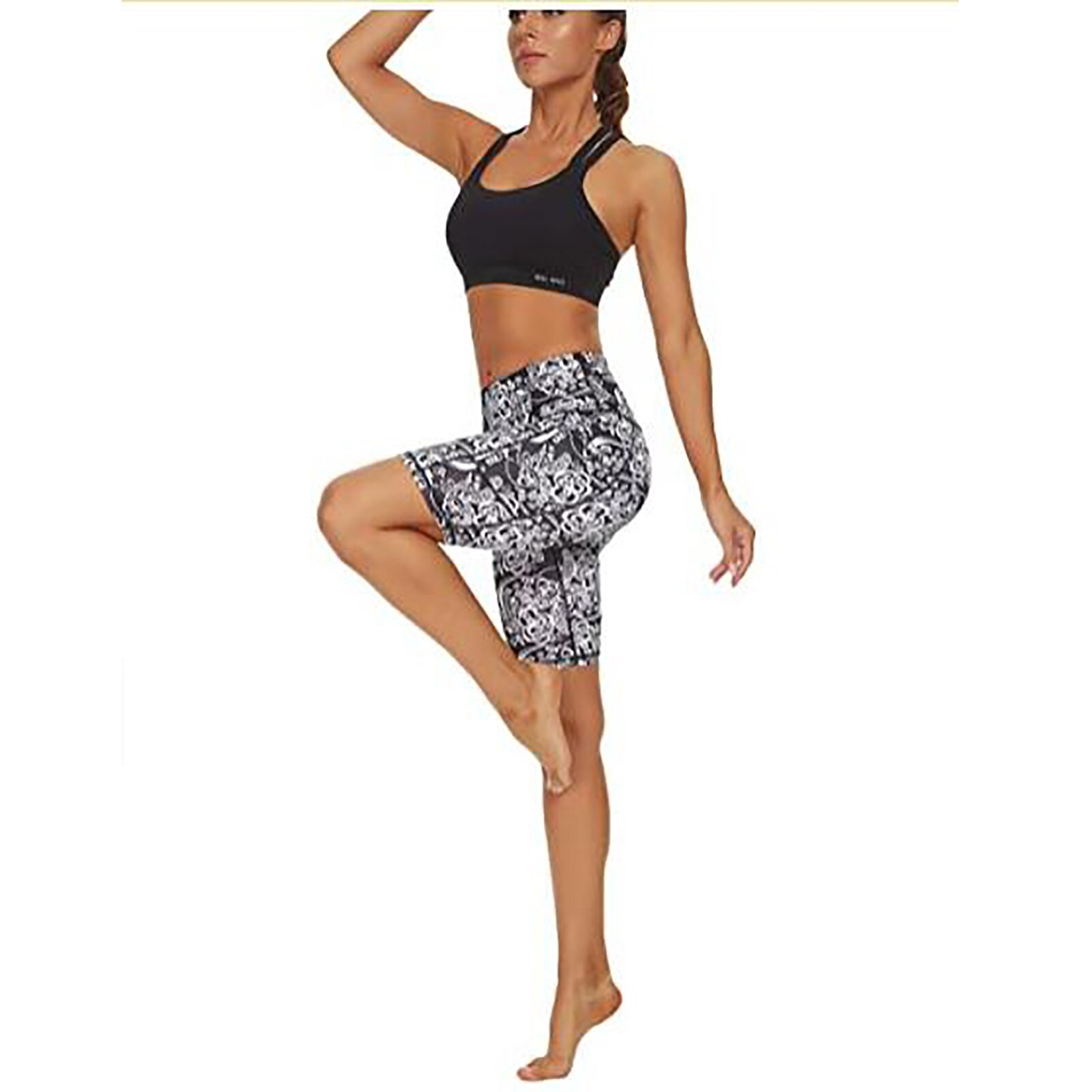 Sexy Seamless Legging Women's Printed High Waist Skinny Hips Comfortable Sports Sport ShortsWoman Sexy High Waist Pants